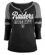 "Oakland Raiders Women's New Era NFL ""Offense"" 3/4 Sleeve Raglan Shirt"