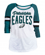 "Philadelphia Eagles Women's New Era NFL ""Punt"" Dual Blend 3/4 Sleeve Shirt"
