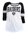 "Oakland Raiders Women's New Era NFL ""Punt"" Dual Blend 3/4 Sleeve Shirt"