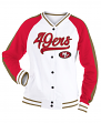 "San Francisco 49ers Women's New Era NFL ""Gameday"" French Terry Varsity Jacket"