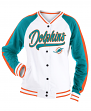 "Miami Dolphins Women's New Era NFL ""Gameday"" French Terry Varsity Jacket"