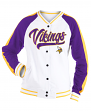 "Minnesota Vikings Women's New Era NFL ""Gameday"" French Terry Varsity Jacket"