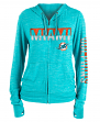 "Miami Dolphins Women's New Era NFL ""Fumble"" Space Dye Hooded Sweatshirt"