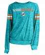 "Miami Dolphins Women's New Era NFL ""Sack"" Space Dye Pullover Sweatshirt"