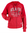 "Atlanta Falcons Women's New Era NFL ""TD Play"" Tri-Blend Hooded Sweatshirt"
