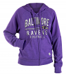 "Baltimore Ravens Women's New Era NFL ""TD Play"" Tri-Blend Hooded Sweatshirt"