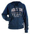 "Houston Texans Women's New Era NFL ""TD Play"" Tri-Blend Hooded Sweatshirt"