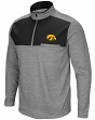 "Iowa Hawkeyes NCAA ""Curl Route"" Men's 1/4 Zip Fleece Jacket"