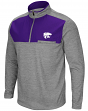 "Kansas State Wildcats NCAA ""Curl Route"" Men's 1/4 Zip Fleece Jacket"