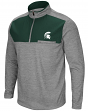 "Michigan State Spartans NCAA ""Curl Route"" Men's 1/4 Zip Fleece Jacket"