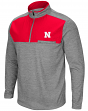 "Nebraska Cornhuskers NCAA ""Curl Route"" Men's 1/4 Zip Fleece Jacket"