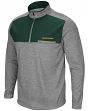 "Oregon Ducks NCAA ""Curl Route"" Men's 1/4 Zip Fleece Jacket"