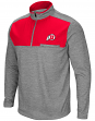 "Utah Utes NCAA ""Curl Route"" Men's 1/4 Zip Fleece Jacket"