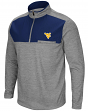 "West Virginia Mountaineers NCAA ""Curl Route"" Men's 1/4 Zip Fleece Jacket"