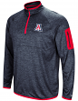 "Arizona Wildcats NCAA ""Screen Pass"" Men's 1/4 Zip Poly Slub Jacket"