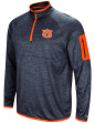 "Auburn Tigers NCAA ""Screen Pass"" Men's 1/4 Zip Poly Slub Jacket"