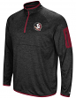 "Florida State Seminoles NCAA ""Screen Pass"" Men's 1/4 Zip Poly Slub Jacket"