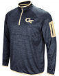 "Georgia Tech Yellowjackets NCAA ""Screen Pass"" Men's 1/4 Zip Poly Slub Jacket"