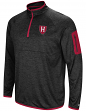 "Harvard Crimson NCAA ""Screen Pass"" Men's 1/4 Zip Poly Slub Jacket"
