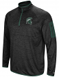 "Michigan State Spartans NCAA ""Screen Pass"" Men's 1/4 Zip Poly Slub Jacket"