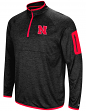 "Nebraska Cornhuskers NCAA ""Screen Pass"" Men's 1/4 Zip Poly Slub Jacket"