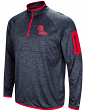 "Mississippi Ole Miss Rebels NCAA ""Screen Pass"" Men's 1/4 Zip Poly Slub Jacket"