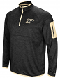 "Purdue Boilermakers NCAA ""Screen Pass"" Men's 1/4 Zip Poly Slub Jacket"