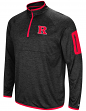 "Rutgers Scarlet Knights NCAA ""Screen Pass"" Men's 1/4 Zip Poly Slub Jacket"