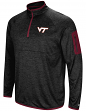 "Virginia Tech Hokies NCAA ""Screen Pass"" Men's 1/4 Zip Poly Slub Jacket"