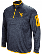 "West Virginia Mountaineers NCAA ""Screen Pass"" Men's 1/4 Zip Poly Slub Jacket"