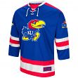"Kansas Jayhawks NCAA ""Ice Machine"" Men's Hockey Sweater Jersey"