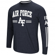 "Air Force Falcons NCAA ""Touchdown"" Men's Dual Blend Long Sleeve T-Shirt"
