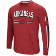 "Arkansas Razorbacks NCAA ""Touchdown"" Men's Dual Blend Long Sleeve T-Shirt"
