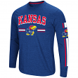 "Kansas Jayhawks NCAA ""Touchdown"" Men's Dual Blend Long Sleeve T-Shirt"