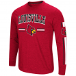 "Louisville Cardinals NCAA ""Touchdown"" Men's Dual Blend Long Sleeve T-Shirt"