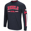 "Mississippi Ole Miss Rebels NCAA ""Touchdown"" Men's Dual Blend L/S T-Shirt"