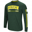 "Oregon Ducks NCAA ""Touchdown"" Men's Dual Blend Long Sleeve T-Shirt"