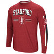 "Stanford Cardinal NCAA ""Touchdown"" Men's Dual Blend Long Sleeve T-Shirt"