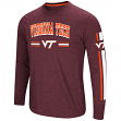 "Virginia Tech Hokies NCAA ""Touchdown"" Men's Dual Blend Long Sleeve T-Shirt"