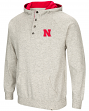"Nebraska Cornhuskers Men's NCAA ""Whoop It Up"" Hooded Henley Sweatshirt"