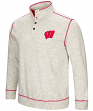 "Wisconsin Badgers Men's NCAA ""Bowl Game"" 1/2 Button Up Henley Sweatshirt"