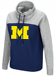 "Michigan Wolverines Women's NCAA ""Talk the Talk"" Funnel Neck Sweatshirt"