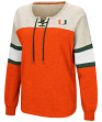 "Miami Hurricanes Women's NCAA ""Greatness"" Oversized Lace Up Sweatshirt"