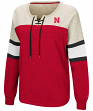 "Nebraska Cornhuskers Women's NCAA ""Greatness"" Oversized Lace Up Sweatshirt"