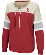 "Oklahoma Sooners Women's NCAA ""Greatness"" Oversized Lace Up Sweatshirt"