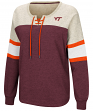 "Virginia Tech Hokies Women's NCAA ""Greatness"" Oversized Lace Up Sweatshirt"