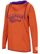"Clemson Tigers Women's NCAA ""Scream It"" V-neck Hooded Sweatshirt"