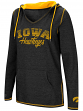 "Iowa Hawkeyes Women's NCAA ""Scream It"" V-neck Hooded Sweatshirt"
