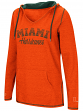 "Miami Hurricanes Women's NCAA ""Scream It"" V-neck Hooded Sweatshirt"