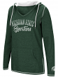 "Michigan State Spartans Women's NCAA ""Scream It"" V-neck Hooded Sweatshirt"